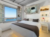 Lindos Shore Boutique Villa bedroom with sea view