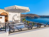 Lindos Shore Boutique Villa courtyard with sea view