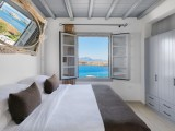 Lindos Shore Boutique Villa bedroom with sea view window
