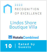 Hotels Combined award for Lindos Shore Homes